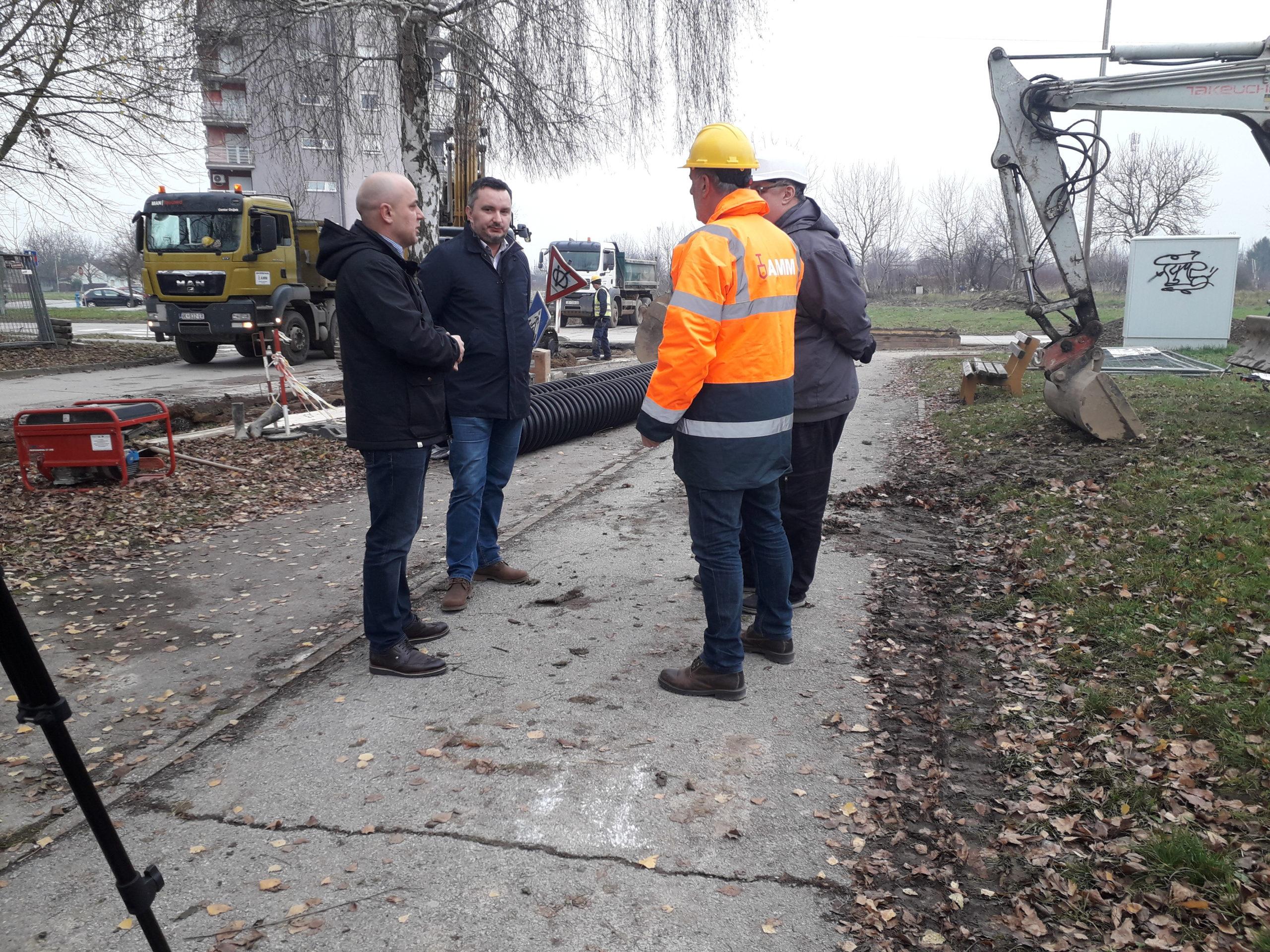 Gradonačelnik Ivan Bosančić obišao radove na Lapovcima